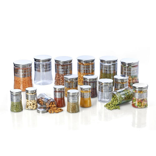 Steelo 18 pcs PET Container Set- 300ml x 6, 500ml x 6, 1200ml x 6 (Belly)
