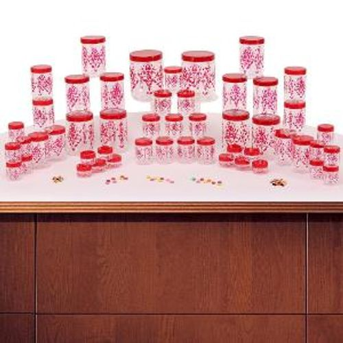 Steelo 60 Pc Storage Container Set (Red)