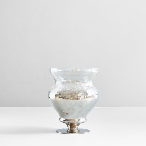 Brown Stemmed Glass Candy Jar