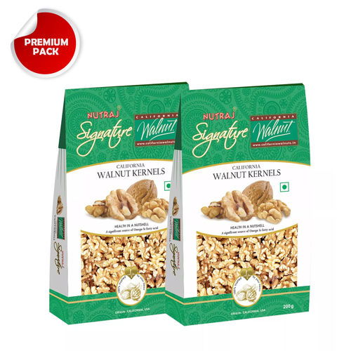 Nutraj California Walnut Kernels- 200G (Pack Of 2)