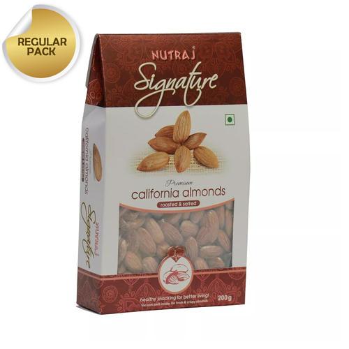 Nutraj Signature Roasted and Salted California Almonds  200g - Vacuum Pack