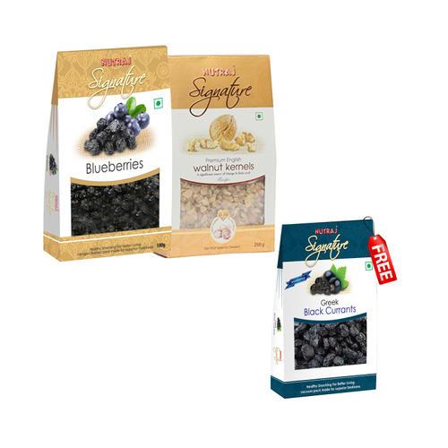 Nutraj Super Saver Pack 400g (Walnuts+Blueberries) - Black Currant Free