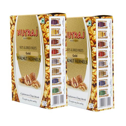 Nutraj - Gold Walnut Kernels - 250G (Pack Of 2)