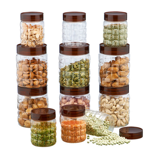 Steelo 12 pcs PET Container Set - 300ml x 6, 600ml x 6 (Solitaire)