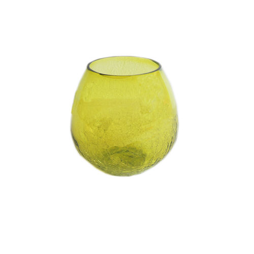 Decor Mart - Tea Lights Holder - Glass - Green - 4.5 X 4 inch