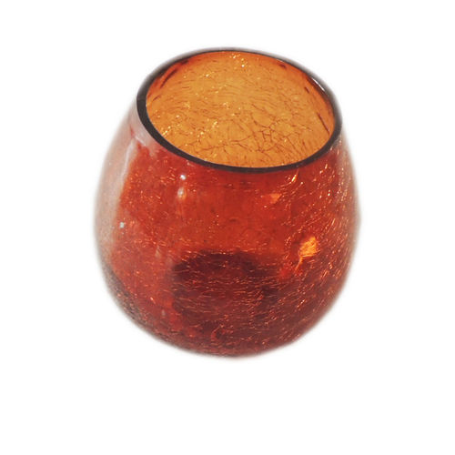 Decor Mart - Tea Lights Holder - Glass - Brown - 4.5 X 4 inch
