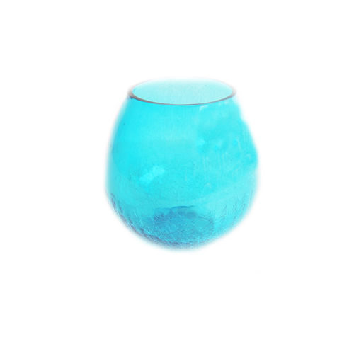 Decor Mart - Tea Lights Holder - Glass - Sky - 4.5 X 4 inch