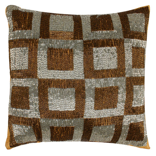 The Decor Mart - Polyester - Brown - Cushion Cover, Pack of 1 | Filler: No