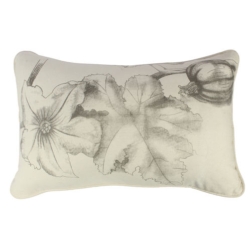 Decor Mart - Cushion Cover - Cotton - Printed - White & Black - 12 X 18 inch