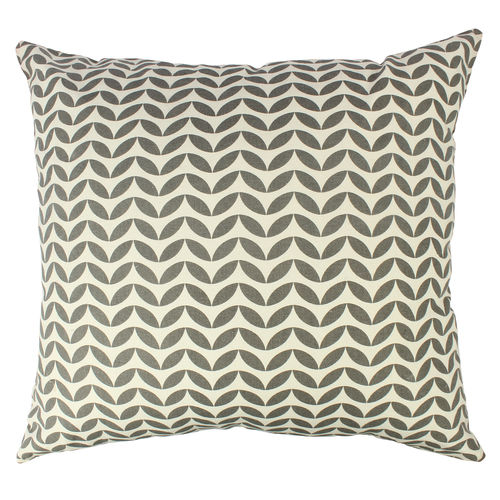 Decor Mart - Cushion Cover - Cotton - Printed - Natural & Black - 17 X 17 inch