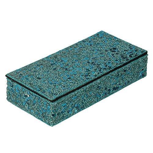 Decor Mart - Jewellery Box - Beaded - Turquoise - 5 X 10 inch