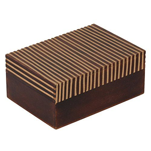 Decor Mart - Jewellery Box - Wood - Brown - 5 X 7 inch