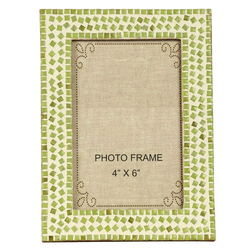 Decor Mart Green Colour Mosaic Photo Frame for 6 X 4 inch photo