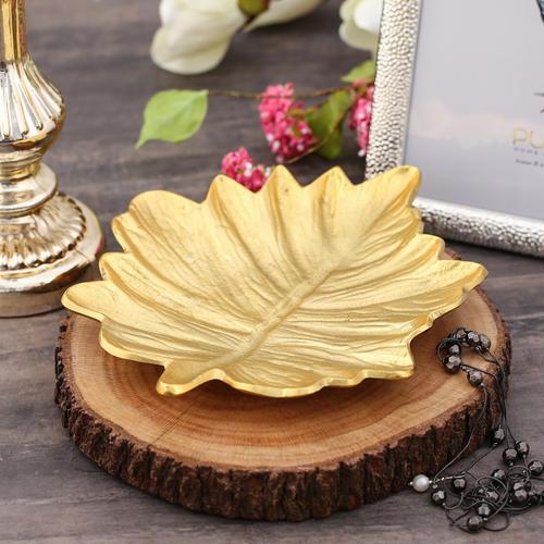 Large Gold Decorative Maple Leaf