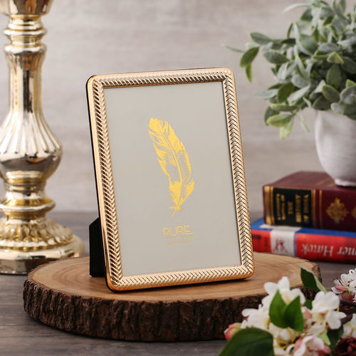 Small Textured Golden Tabletop Frame
