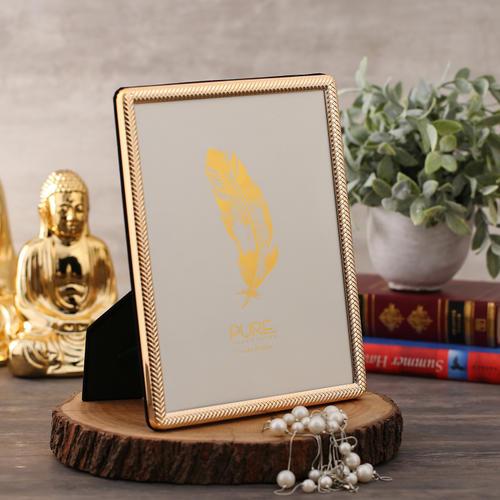 Large Embossed Golden Tabletop Frame