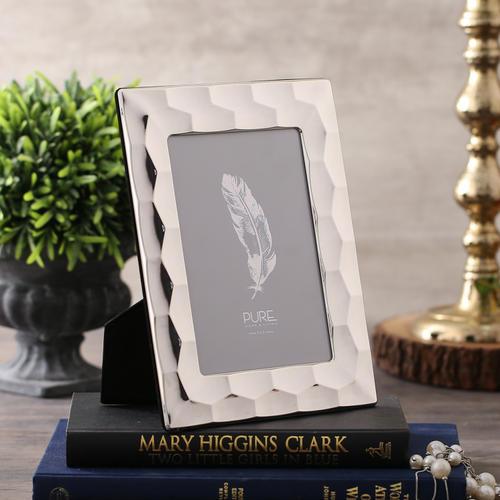 Medium Silver Crystal Mirror Frame