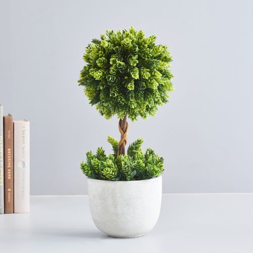 Large Potted Pineapple Grass Topiary