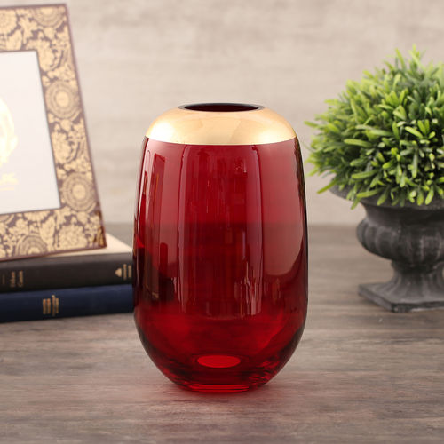 Small Ruby Red Vase
