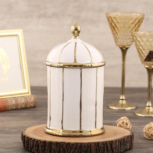 Saga Medium Gold Jar