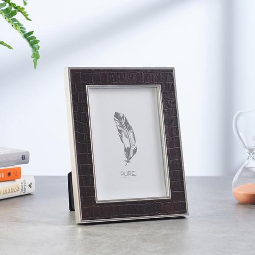 Medium Black Croco Textured Tabletop Frame