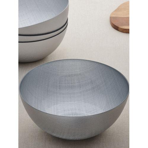 Set of 4 Silver Serving Bowl