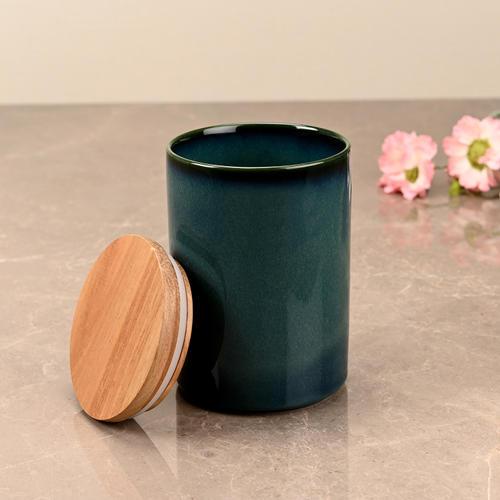 Small Teal Green Ceramic Storage Jar