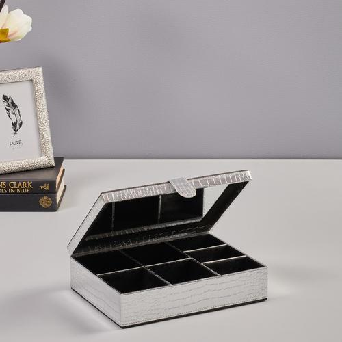 Silver Croco Jewellery Box