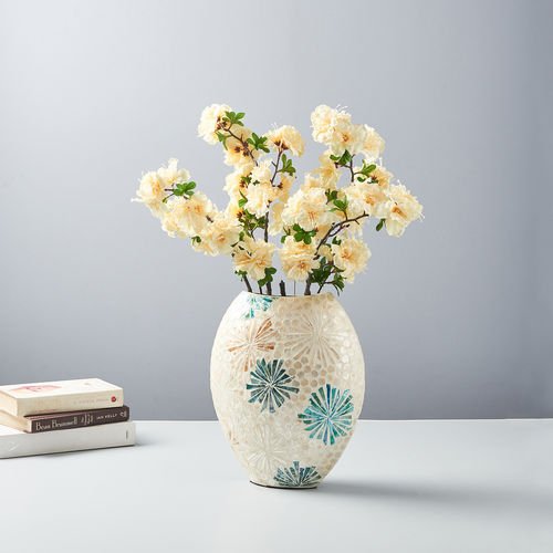 Small Golden Oval Vase