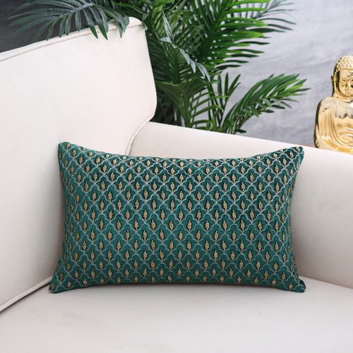 Green & Gold Opulence Cushion Cover