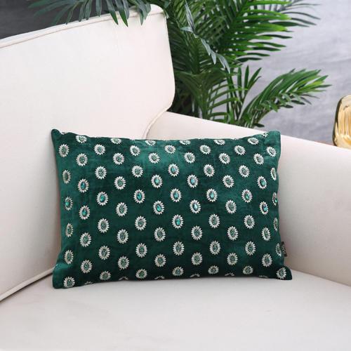 Green & Gold Emerald Cushion Cover