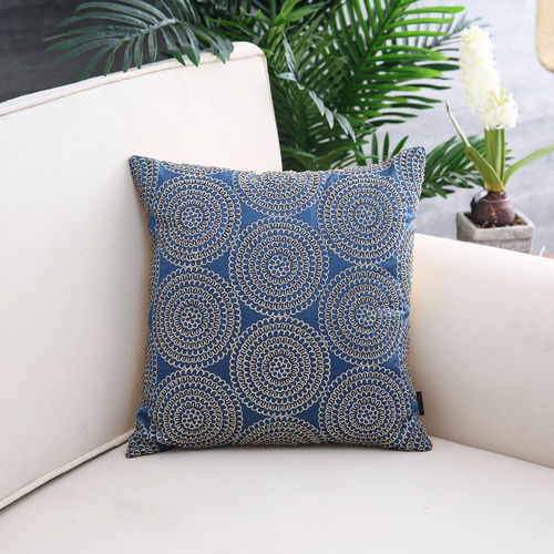 Blue Luxe Orbit Cushion Cover