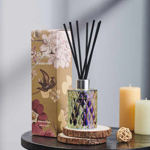 Yellow Antique Mohagany Reed Diffuser