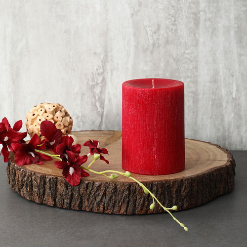 Large Red Apple Cinnamon Pillar Candle
