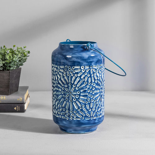 Blue Bohemian Lantern