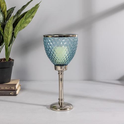 Blue Glass Small Nova Hurricane