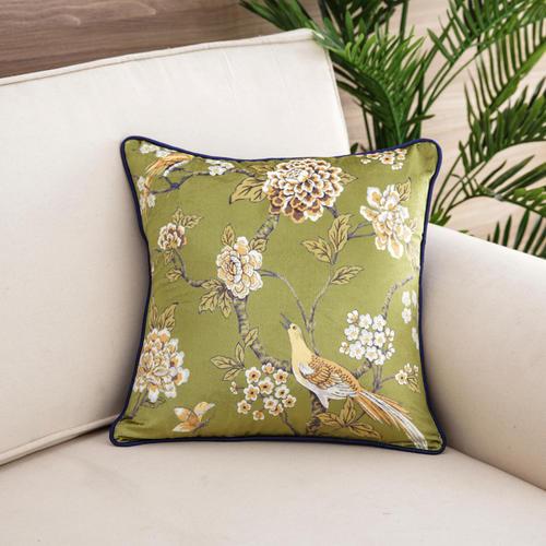 Florina Green Cushion Cover