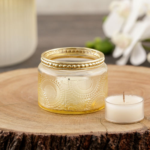 Set of 4 Gold T-Light Candle Holder