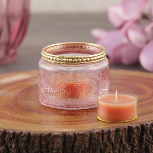 Set of 4 Pink T-Light Candle Holder