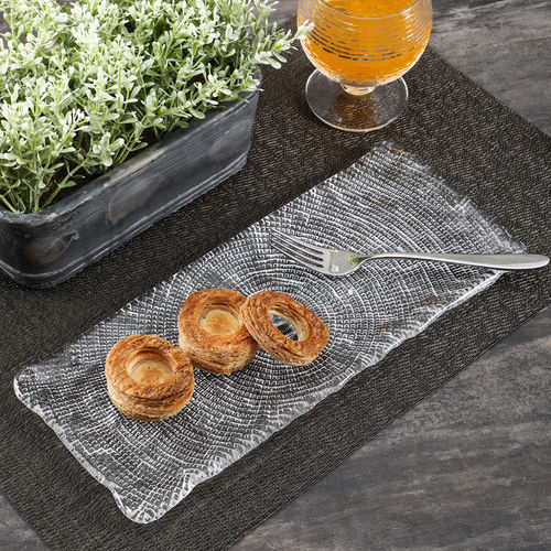 Small Textured Diamante Appetizer Platter