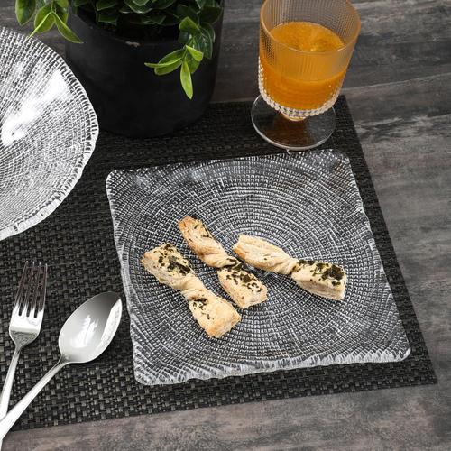 Square Textured Diamante Appetizer Platter