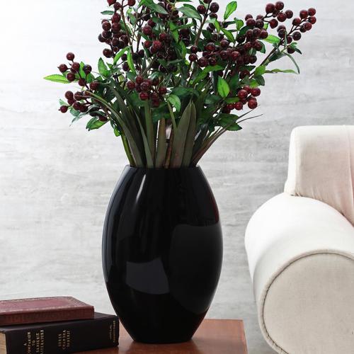 Black Elliptical Modern Vase