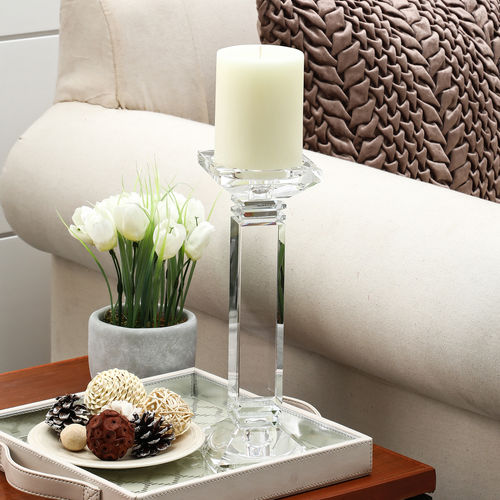 Small Crystal Column Candle Holder