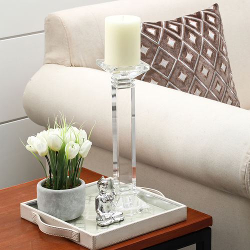 Medium Crystal Column Candle Holder