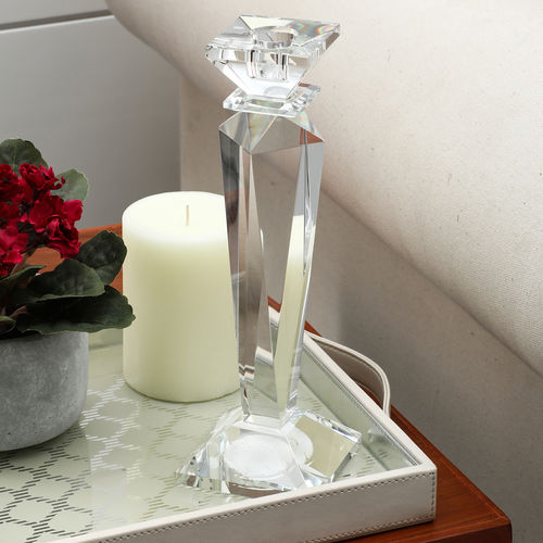 Large Renee Crystal Taper Candle Holder