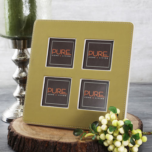 Olive And Beige Multiple Photo Frame