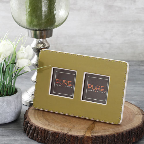 Olive And Beige Two Picture Photo Frame