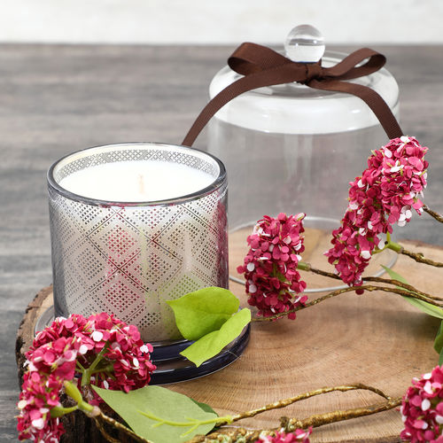 Nordic Fir Pomegranate Glass Jar Candle With Dome