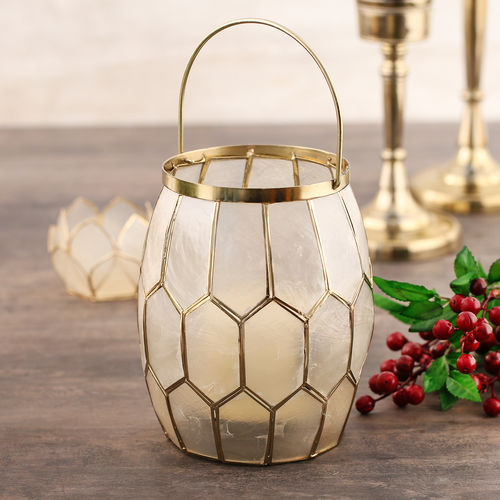 Golden Honeycomb Lantern