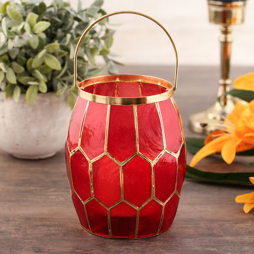 Red Honeycomb Lantern